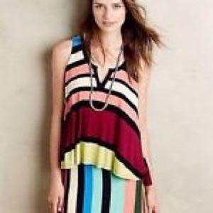 maeve ANTHROPOLOGIE striped jersey dress S (G5)